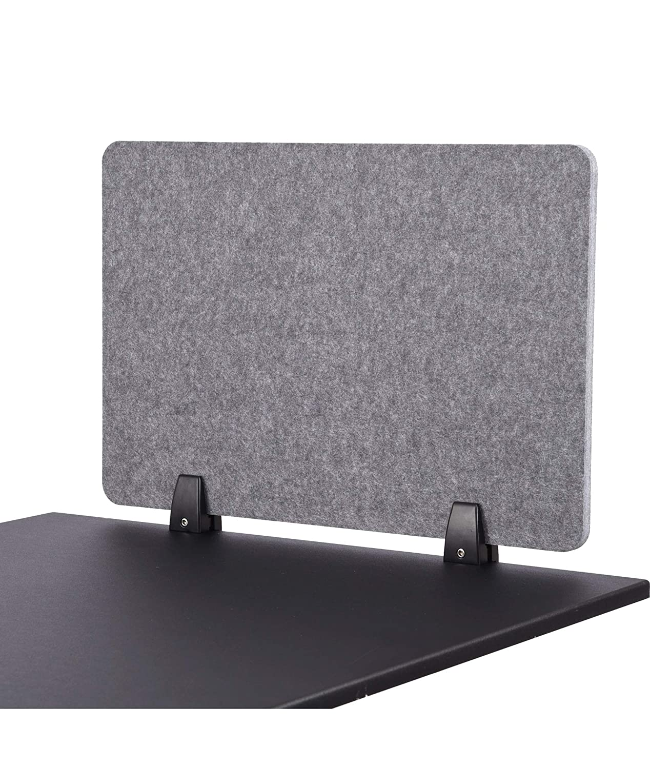 "ReFocus Raw Clamp-On Acoustic Desk Divider – Reduce Noise and Visual Distractions with This Lightweight Desk Mounted Privacy Panel (Castle Gray, 24"" X 16"")"