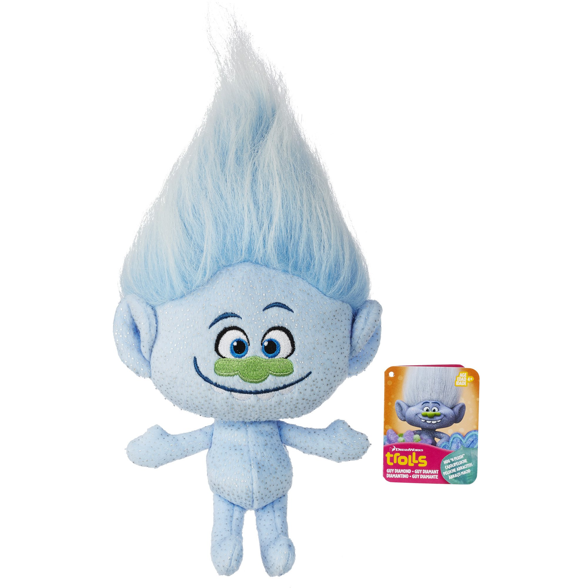 DreamWorks Trolls Guy Diamond Hug N Plush Doll