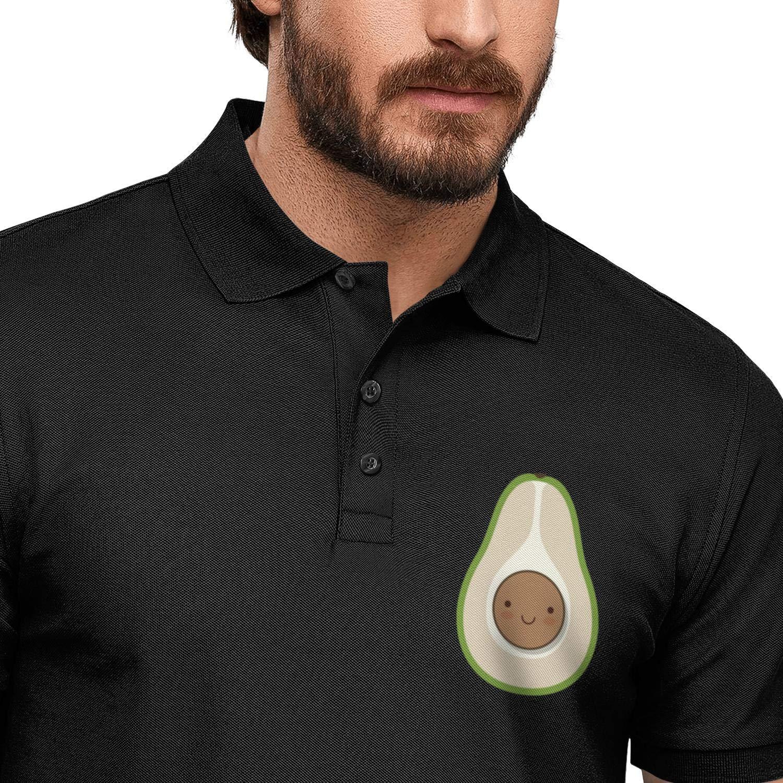 WYFEN Men Printed Polo Shirt Vegetarians Avocado Breathable Short Sleeve Tshirts