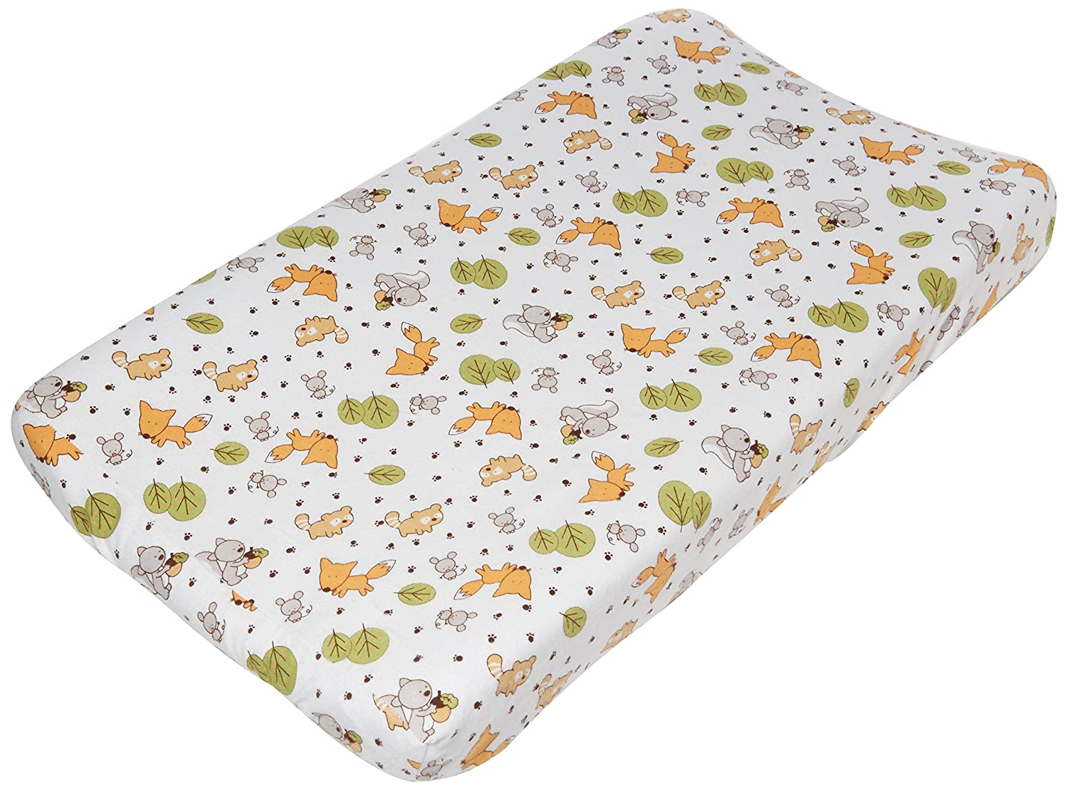 Trend Lab Friendly Forest Deluxe Flannel Changing Pad Cover 101381
