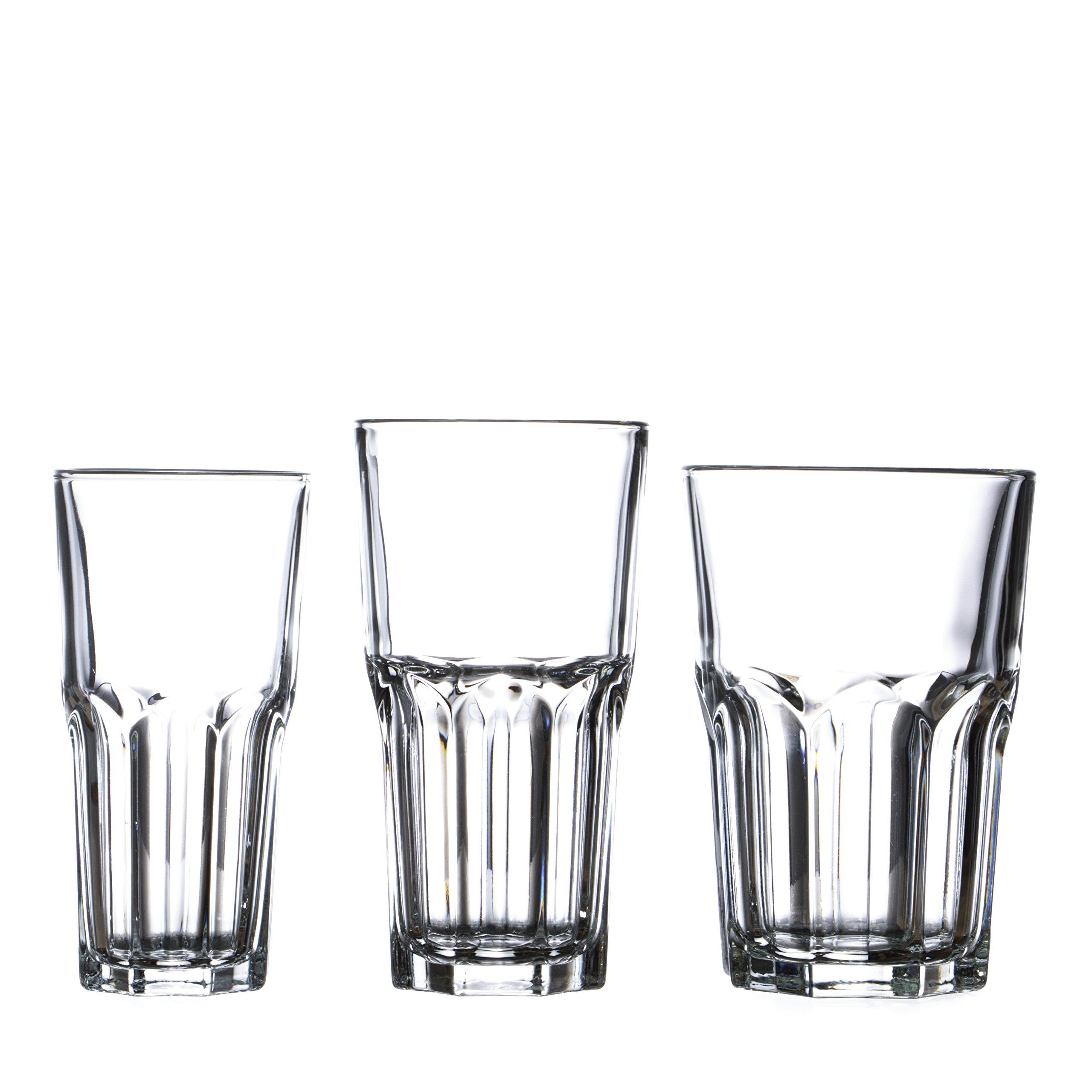 ARCOROC GRANITY Water/Beverage Highball Glasses Set, 12 Oz (24)