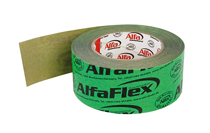 cinta adhesiva verde Vapor freno cortavapor Barrera de vapor 60mmx25/m 8/ruedas