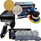 "Hymair AT-991L 150mm 6"" DA Palm Air Sander + AT-7037B 75mm 3"" Mini DA Air Sander & 50 x Mirka Body+ 6"" Mixed Grit Sanding Discs + 50 x Mirka Q.Silver 3"" Mixed Grit Sanding Discs"