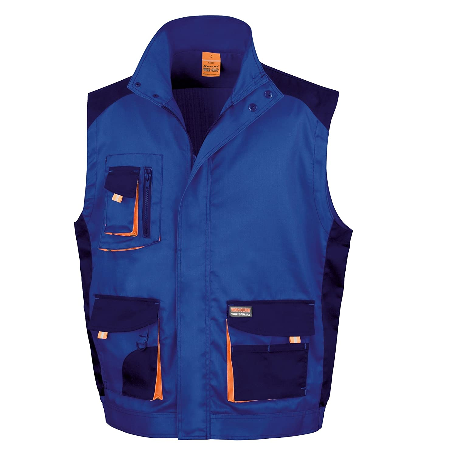 Résultat R317 X Work-Guard Lite Gilet Bleu Roi/Bleu Marine/Orange