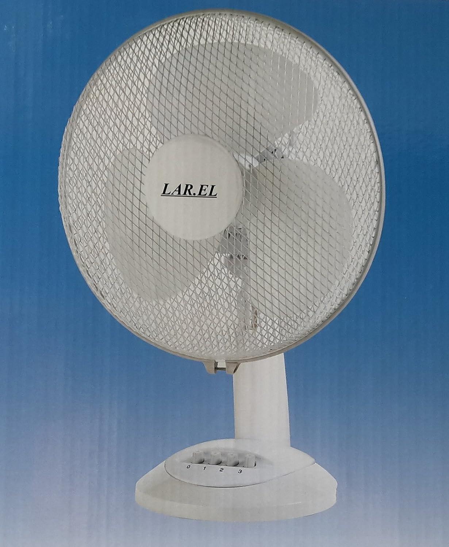 Ventilateur de Table-Oscillant LAREL LAD30 30 cm Blanc