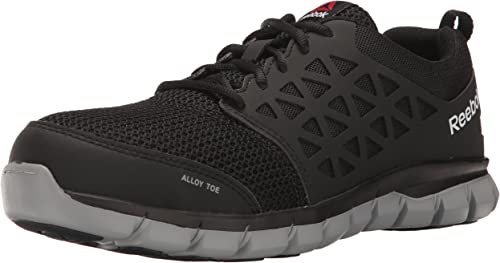 Reebok Work Mens Sublite Cushion Work EH Black Synthetic 10.5 EEEE US