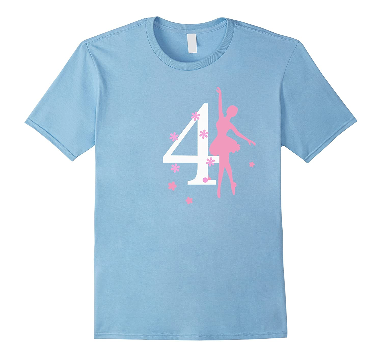 4 Birthday Ballerina Birthday T-shirt-CD