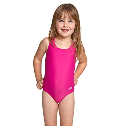 2309ced15e080 Zoggs Girls Tots Bellamie Action-Back - Swimsuit for Toddlers & Girls - Swimming  Costume