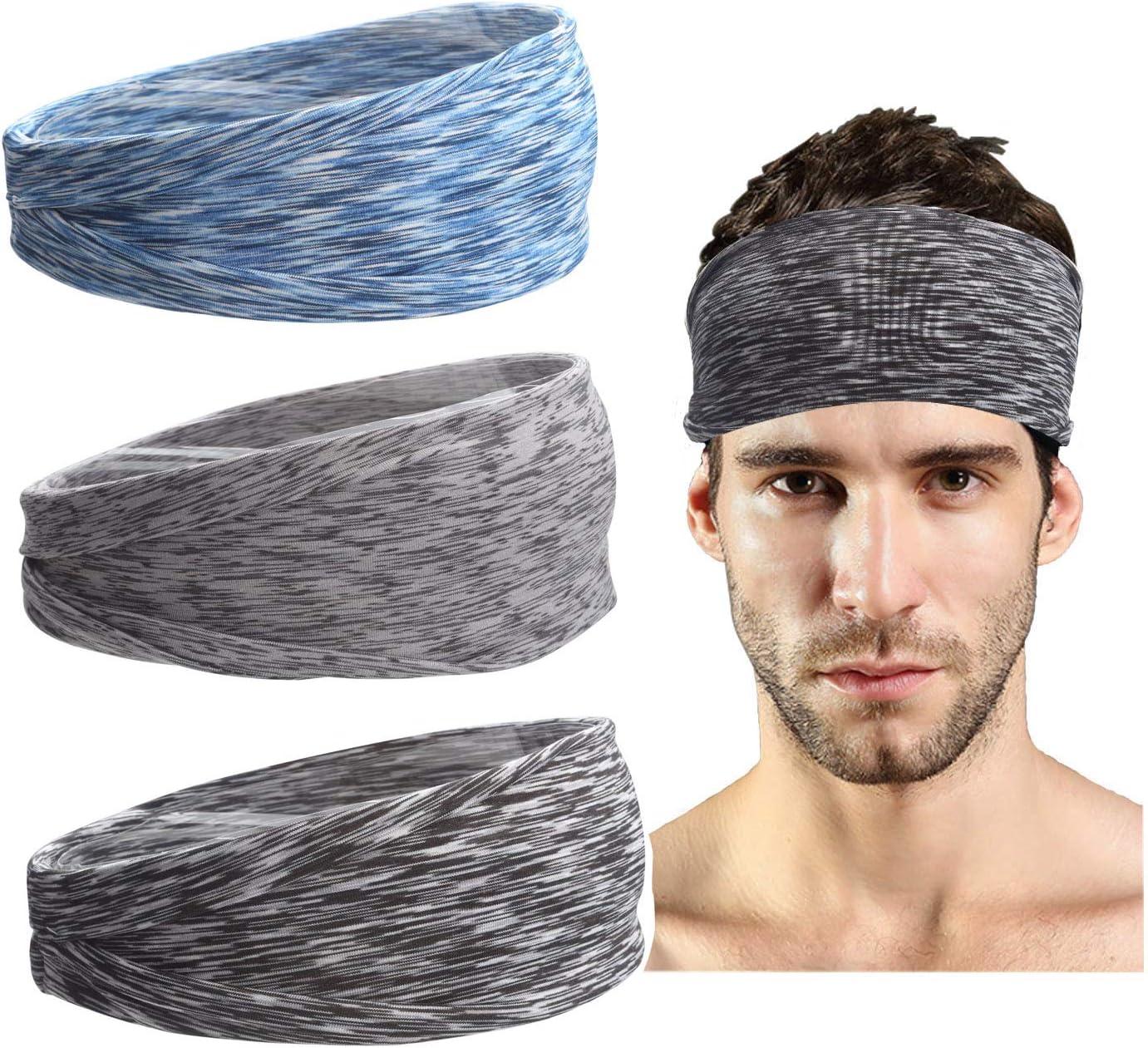 FYBLYCOO Headbands for Women Sweat Sport Yoga Running Moisture Wicking Headband for Womens Workout Hair Bands