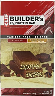 product image for Clif Bar Builder's Bar, Variety Pack, 9 Chocolate and 9 Chocolate Peanut Butter, 2.4-Ounce Bars, 18 Count