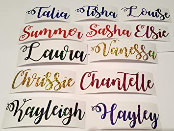 Personalised Stickers Handmade by Labels Various sizes ANY NAME Bear Heart 28
