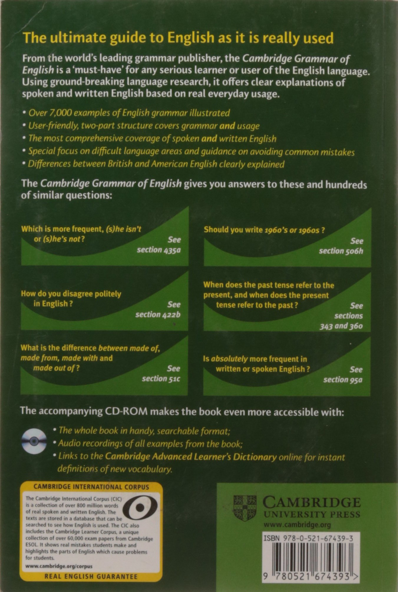 Cambridge grammar of english paperback with cd rom a comprehensive cambridge grammar of english paperback with cd rom a comprehensive guide amazon ronald carter michael mccarthy 9780521674393 books fandeluxe Images