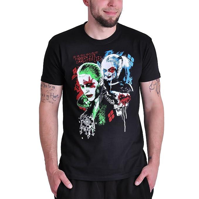 Suicide Squad Joker Harley Damen T Shirt: : Bekleidung