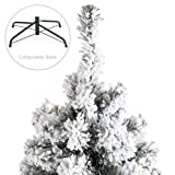 Best Choice Products 7.5ft Pre-Lit Snow Flocked