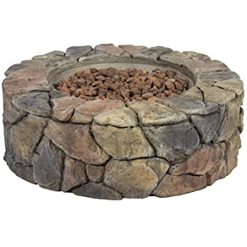 Stein Design Fire Pit Outdoor Home Gas Feuerstelle Terrasse