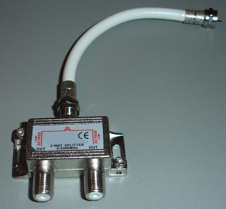 Electrosmart - Duplicador de señal por satélite (2,4 Ghz, 2 ...
