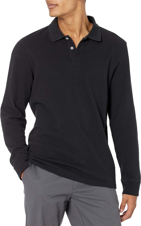 Amazon Essentials Men's Slim-fit Long-Sleeve Pique Polo
