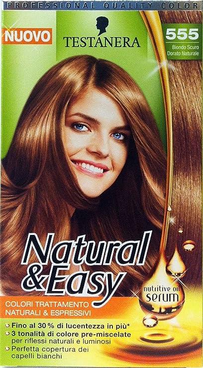 Natural & Easy Shampoo Tinte Rubio Oscuro Dorado 555: Amazon ...