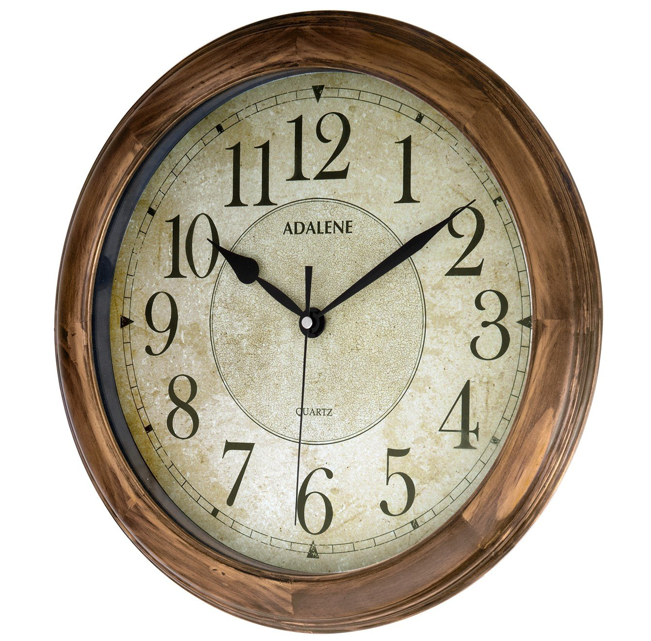 Amazon.com: Adalene 14 Inch Large Wall Clock Decorative Living Room Modern    Battery Operated Quartz Analog Movement Silent Wall Clock For Home    Round ...