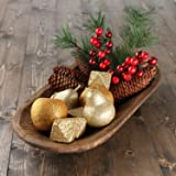 Factory Direct Craft Gold Glitter Ornaments, Pine Sprigs, Berries and Pinecones - Christmas Holiday Decorating Kit