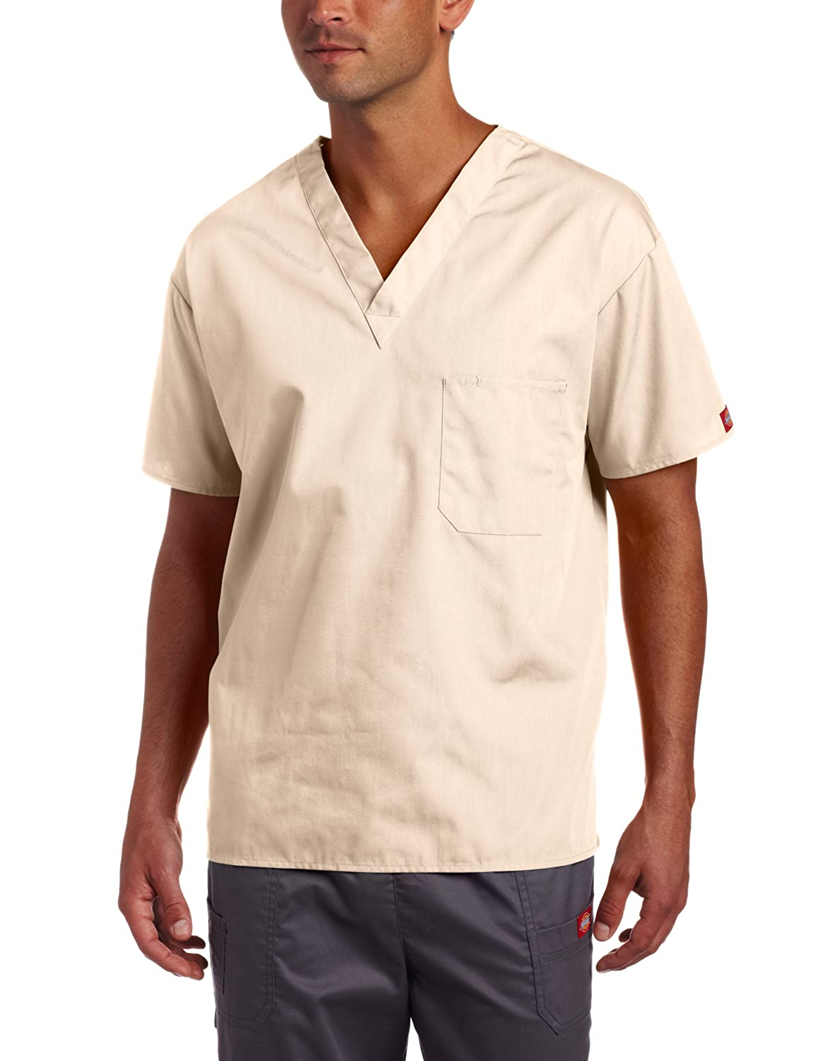 41e18fa8770 Dickies label on left sleeve, side vents for ease of movement. Center back  length: 28 inch. Dickies Everyday Scrub