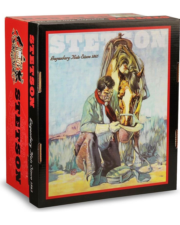 Stetson Men's 6X Bar None Fur Felt Western Hat Silverbelly 7 3/4