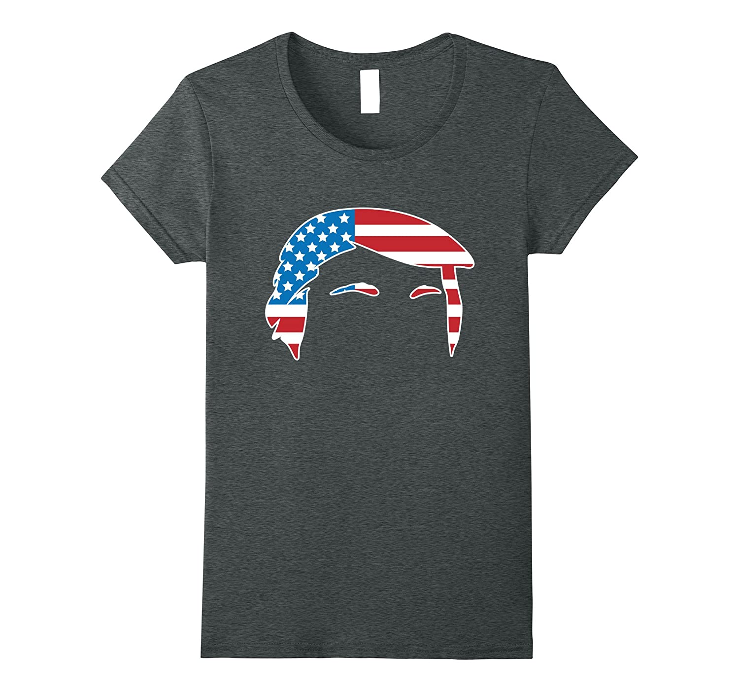 Donald Trump Hair Red White and Blue US Flag Shirt-Teevkd