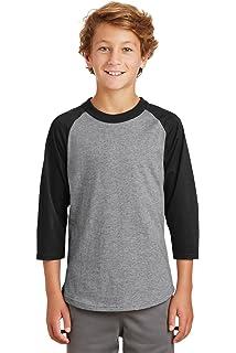 YT200 Sport-Tek New Boys Youth Colorblock Raglan Jersey Baseball Shirt XS-4XL