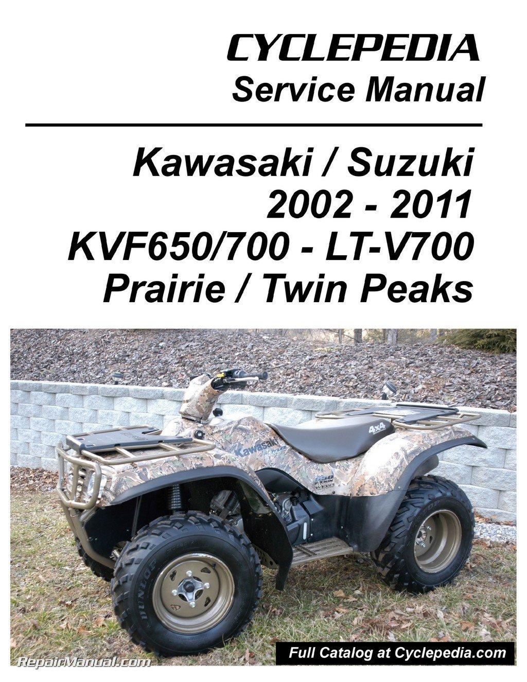 Cpp 153 P Kawasaki Kvf650 Brute Force Kvf650 Kvf700 Prairie Suzuki Twinpeaks 700 Atv Printed Service Manual By Author Amazon Com Books