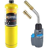 BLUEFIRE MRS-8098 Interchangable Tips Trigger Start Propane (2-Tips Torch MAPP Kit)
