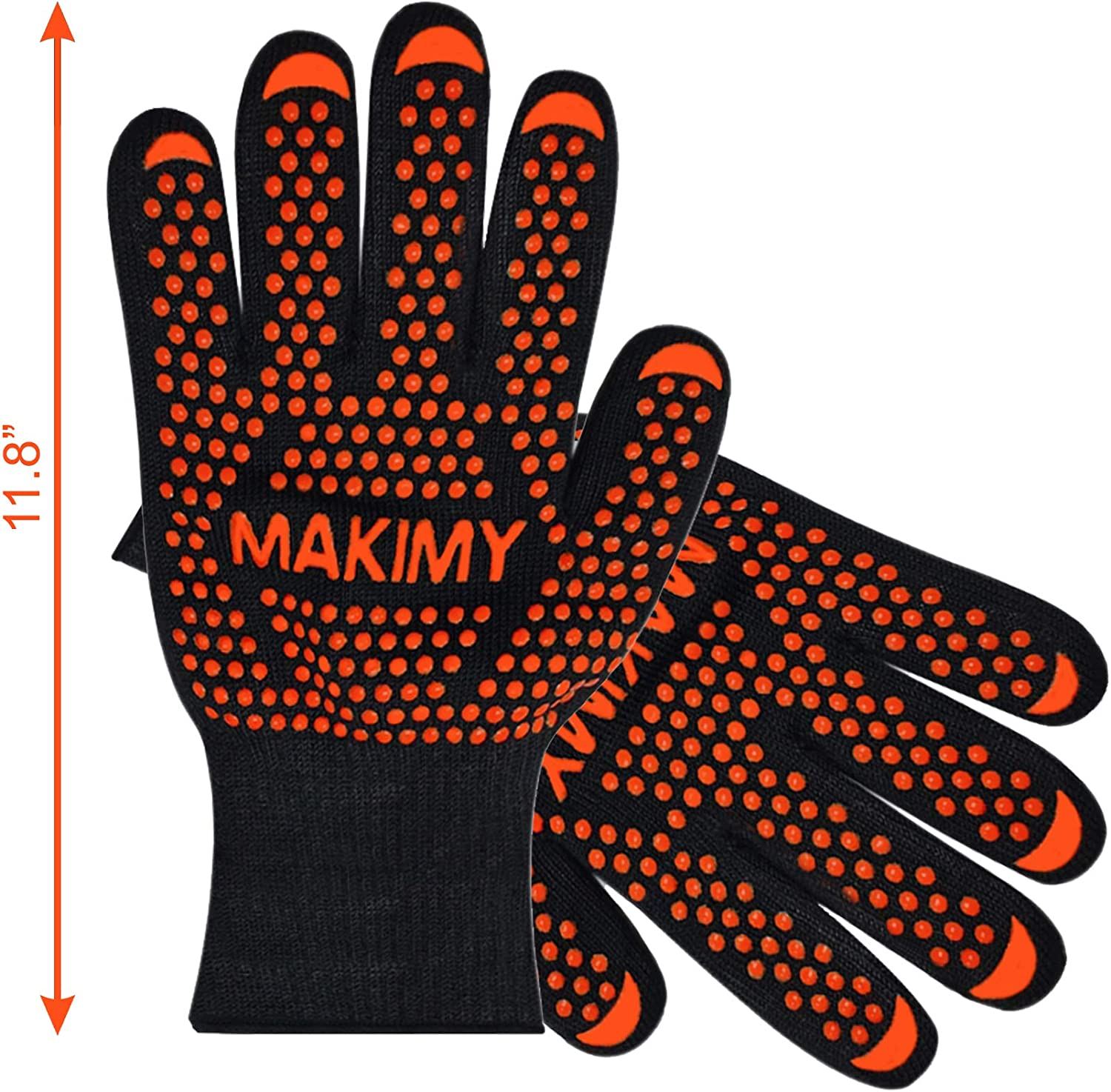 BBQ Gloves for Baking & Grilling – Heat Protection for Barbecue, Grill, Oven, Cooking, Smoking - Size Large