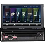"TUVVA 7"" Sinle DIN Car Stereo Touch Screen GPS Navigation, DVD/ CD/ USB/ AUX-IN/ PhoneLink/ RDS/ Remote Control"