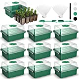 120 Cells Seed Starter Tray Seedling Trays VpnDiyp 10 Packs Seed Starter Kit with Humidity Dome and Drain Hole Seed Starter K