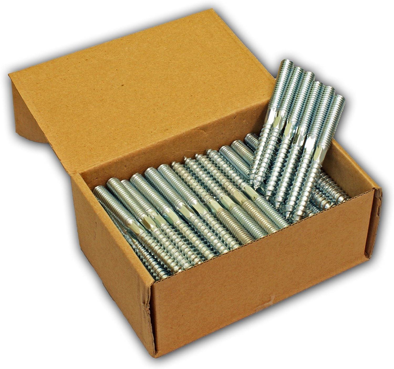 Stabilo-Sanitaer 100x Stockschrauben M8 x 120 mm Schraubstifte Gewindestifte verzinkt Doppelgewindeschrauben Rohrschellen Befestigungsmaterial Montagematerial