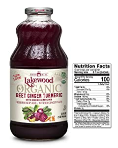 Lakewood Beet Ginger Turmeric, Fresh Pressed (32 Oz, 6 Pack)
