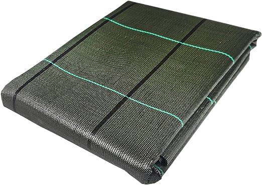 Seinec Malla Antihierbas Verde 10m² (2 x 5m). Resistente a roturas con Proteccion UV para el Control de Maleza en Jardín y Huertos Ecológicos, Ocultación. Polipropileno (PP): Amazon.es: Jardín