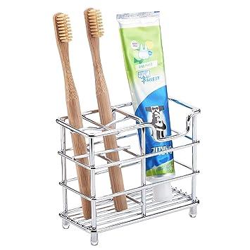 Amazon.com: Soporte para cepillos de dientes, acero ...