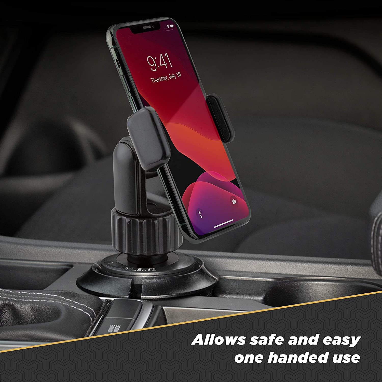 SCOSCHE UHCUPM-SP1 QuickGrip Cup Phone Holder Mount with Adjustable Arms