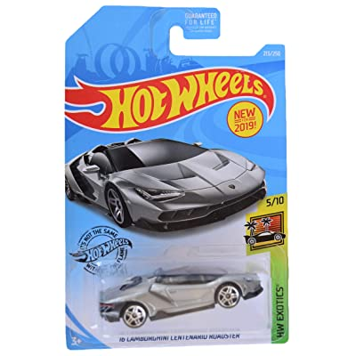 Hot Wheels HW Exotics 5/10 '16 Centenario Roadster 213/250, Silver: Toys & Games