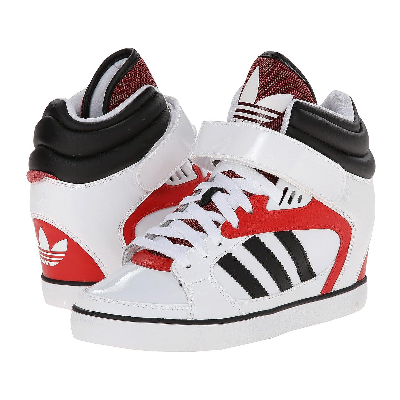 Adidas originali delle donne amberlight bianco / nero / rosso su w scarpa