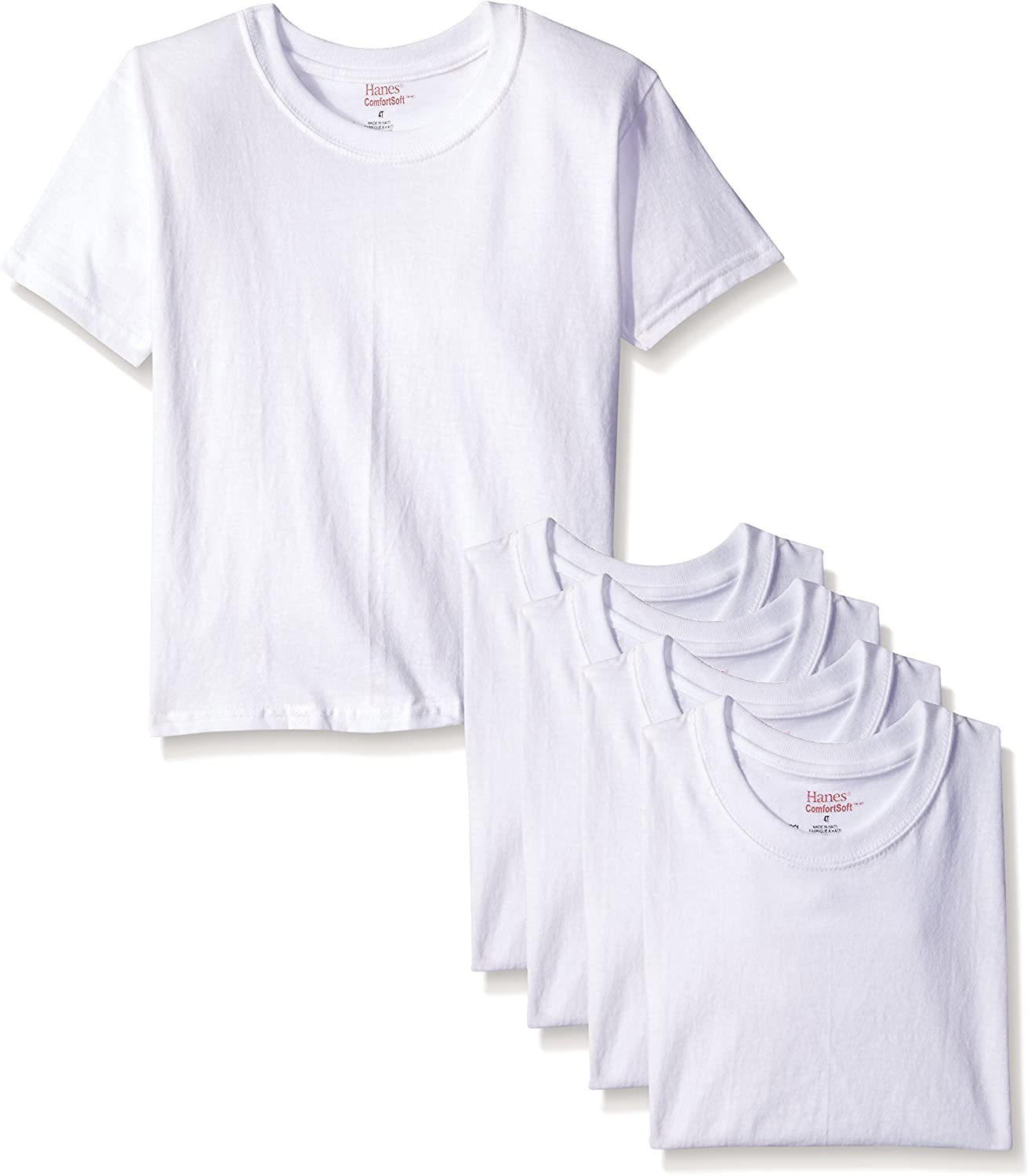 Fruit of the Loom Boys and Toddler Boys Crew Tee Pack of 3