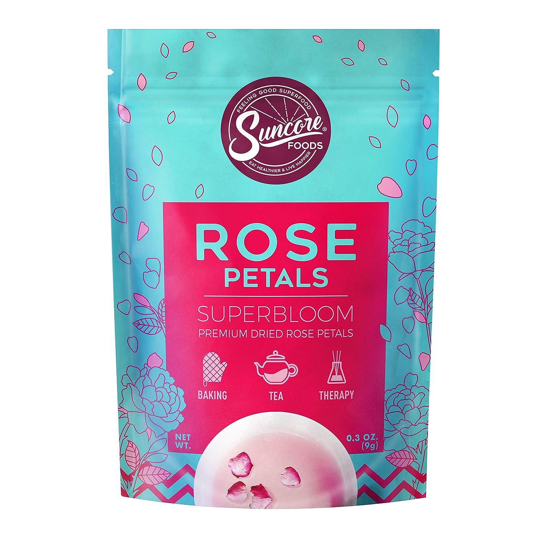 Suncore Foods - Premium Dried Rose Petals Superbloom, No Caffeine, No Preservatives, 0.3oz