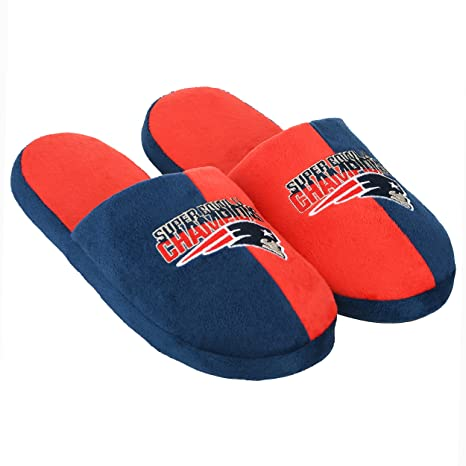 1b2927755fa Image Unavailable. Image not available for. Color  New England Patriots  Super Bowl Champions 51 Slipper ...