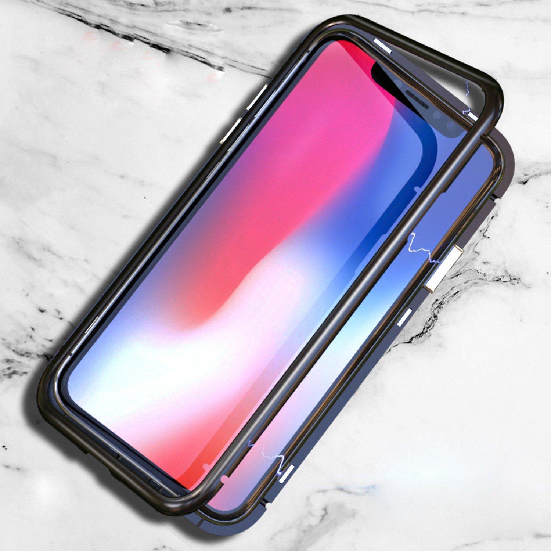 size 40 fc227 e7382 Amazon.com: Magnetic Metal Bumper Case For iPhone X 8 7 Plus Magnet ...