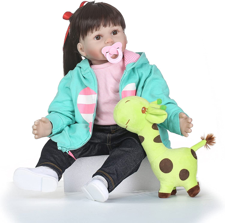 "24/"" Toddler Reborn Baby Dolls Handmade Soft Vinyl Silicone Baby Doll Newborn Toy"