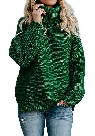 Eastlife Womens Oversized Sweaters Turtleneck Casual Long Sleeve