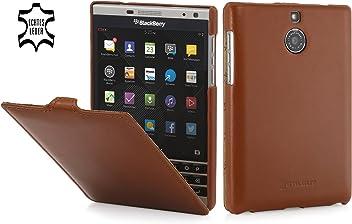 StilGut UltraSlim, Housse en Cuir pour Blackberry Passport Silver Edition, en Cognac