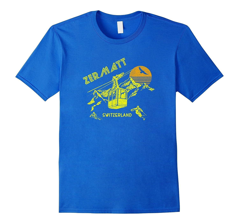 Zermatt Switzerland T-Shirt Retro Skiing Tee-TH