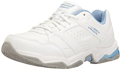 Avia Women's Avi-Rival Cross-Trainer Shoe, White/Powder Blue, 6.5