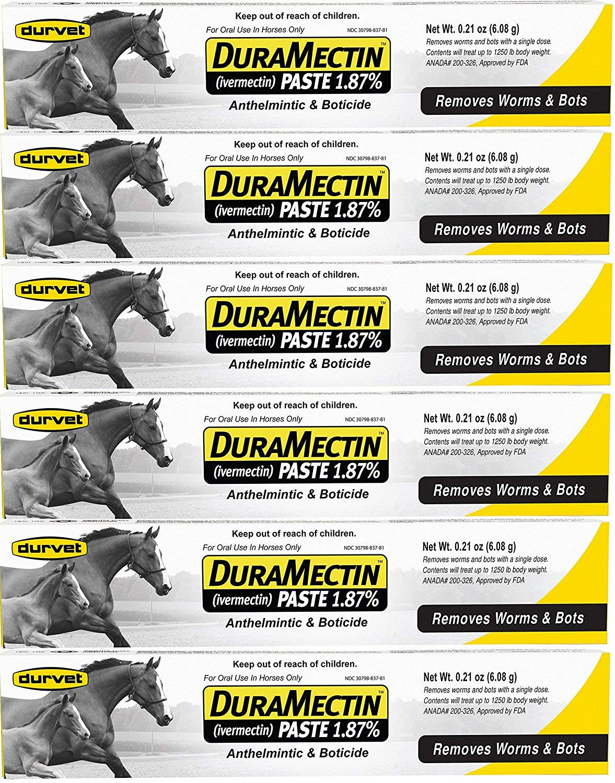 Durvet Duramectin Equine Wormer Paste - 6 Tubes by Duramenctin
